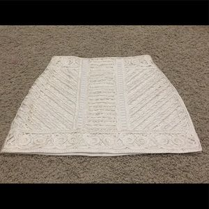 H&M White Embroidered Skirt Size 12